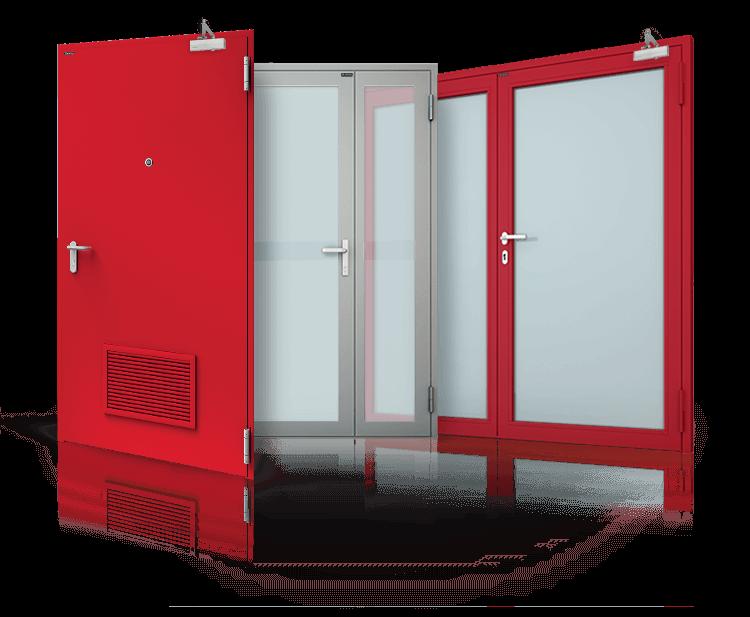 Ognioodporne drzwi stalowe przeciwpożarowe