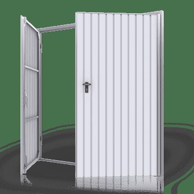 Brama garażowa dwuskrzydłowa - rozwiewna