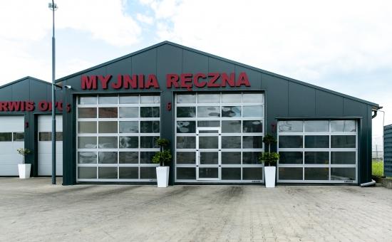 Brama garażowa na myjni ręcznej - realizacja Wrocław